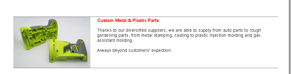 Custom Metal & Plastic parts